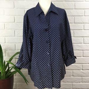 Foxcroft Shirt Size 16 Wrinkle Free NWOT